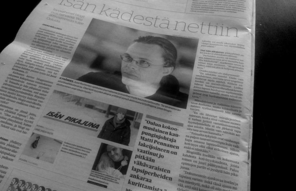 Juttu Kalevassa 31.8.2014