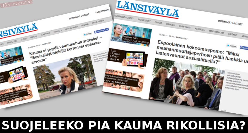 Suojeleeko Pia Kauma rikollisia?