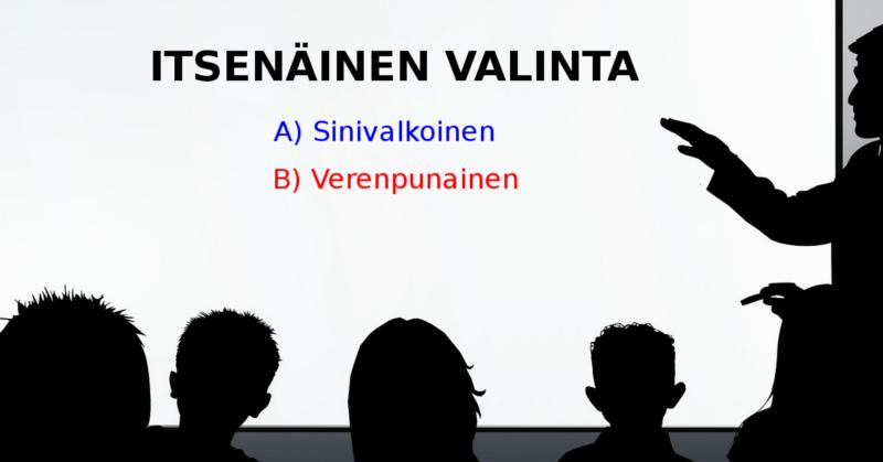 Suomalaiset voivat itsenäisesti valita, haluavatko rakentaa maastaan luokkayhteiskunnan.
