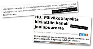 Iltalehti ja Helsingin Uutiset vääristelevät tietoja.