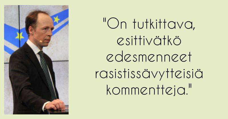Jussi Halla-aho riensi ratsastamaan Oulu kirvessurmien uhreilla. Kuva: Jaakko Sivonen / Creative Commons CC BY-SA 3.0