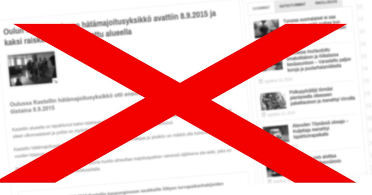 Vihasivustolla levittettiin jälleen väärää tietoa.