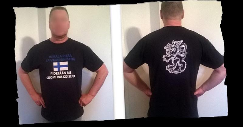 Kunnanvaltuutetun mielestä paita on mainio tapa levittää maahanmuuttokriittisyyttä.