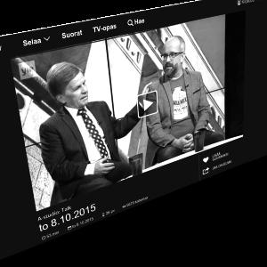 Mauri Pekkarinen varasti show n keskusteluohjelmassa. Kuva: kuvakaappaus Yle Areenasta.