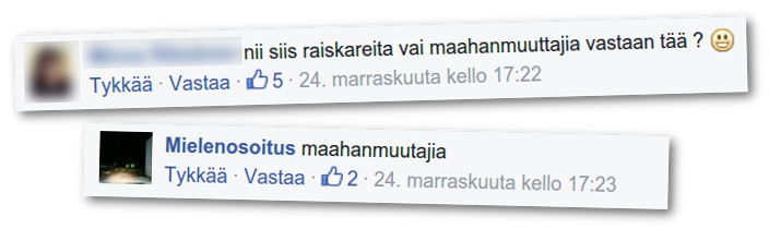 Suomen Sisu kehotti osallistumaan maahanmuuttajia vastaan suunnattuun mielenosoitukseen.