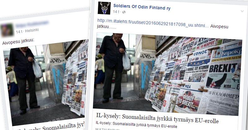 Rajat kiinni -ryhmässä ja Soldiers of Odinin viestinnässä Taloustutkimuksen tekemää tutkimusta kuvailtiin aivopesuksi.