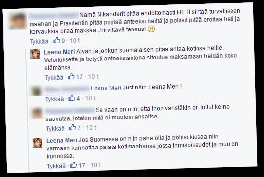 Leena Meri kohdisti kommenttinsa nimenomaisesti Mustan Barbaarin perheeseen.