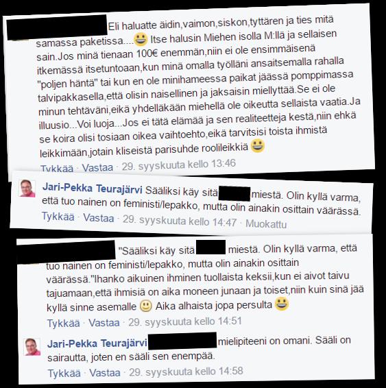 """Jari-Pekka Teurajärvi arveli keskustelukumppaniaan """"lepakoksi""""."""