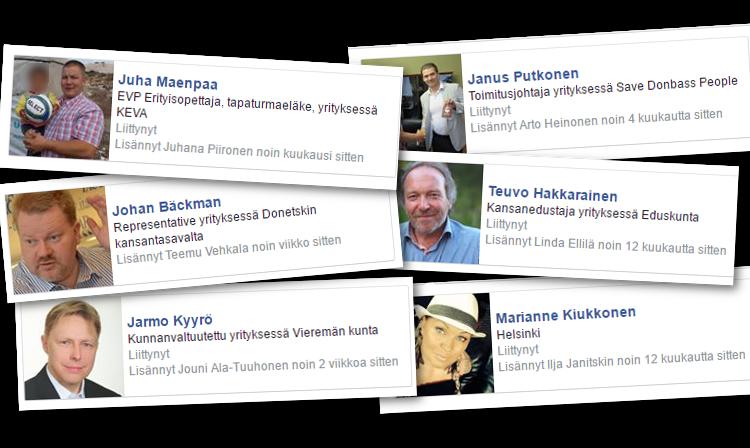 Ilja Janitskinin ylläpitämän Facebook-ryhmän jäsenissä on tuttuja nimiä.