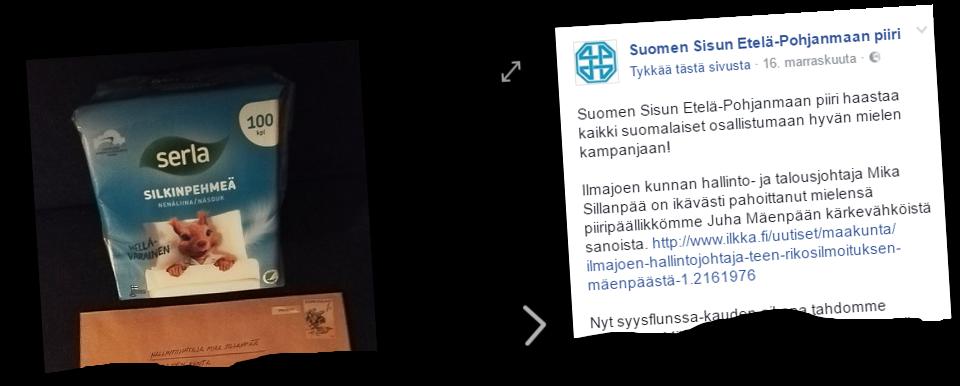 Suomen Sisun Etelä-Pohjanmaan piiri kampanjoi perussuomalaisten puolesta.