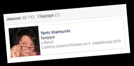 Terhi Kiemunki on MV-ryhmän jäsen.