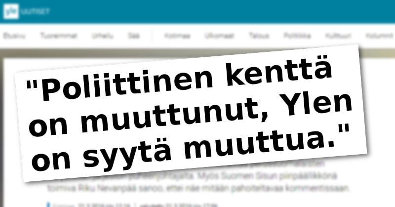 Ylen hallintoneuvostossa puututaan Ylen uutisiin.
