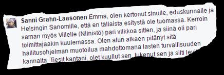 Opetus- ja kulttuuriministeri Sanni Grahn-Laasonen (kok) ei ole aikonut edistää hallitusohjelmaan kirjattua hanketta, jota on valmisteltu hänen johtamassaan ministeriössä.
