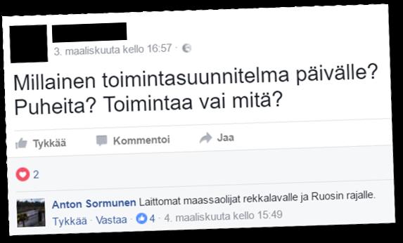 Perussuomalaisten lappeenrantalainen kuntavaaliehdokas mietiskelee muilutuksia.