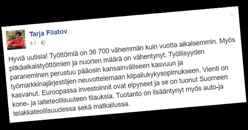 SDP:n kansanedustaja harhautui uskomaan työttömyyden vähentymiseen.