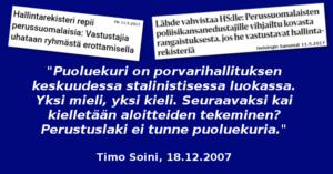 Timo Soini manaili puoluekuria vuonna 2007.