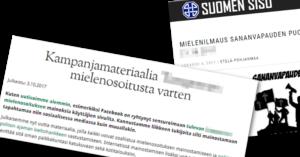 Pohjoismainen Vastarintaliike kehottaa mainostamaan ja Suomen Sisu tekee työtä käskettyä.