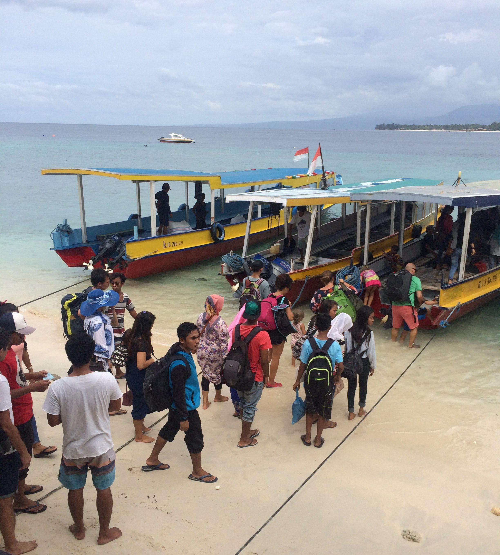 Julkinen liikenne hoidetaan Gili-saarilla veneillä
