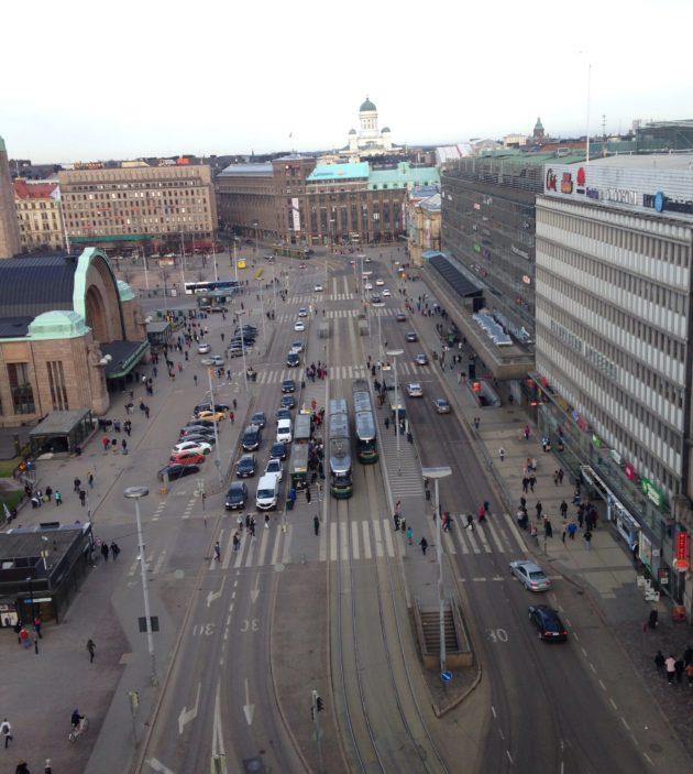 Helsinki ylhäältä nähtynä: Kaivokatu. (IL)