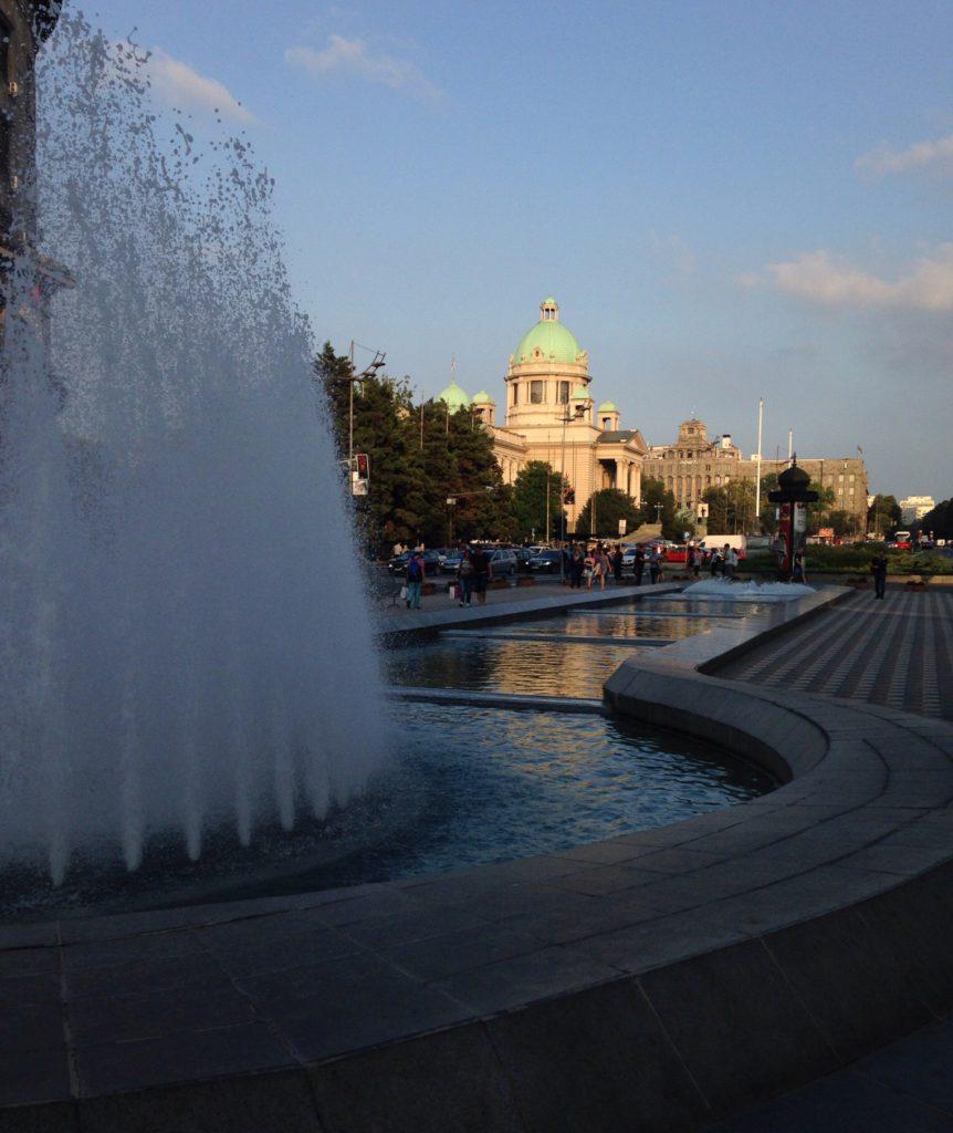 Myös Italia on tunnettu suihkulähteistään, tämä kuitenkin Belgradissa.