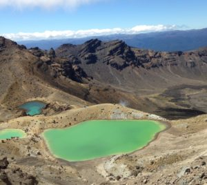 Tongariron smaragdijärvi.