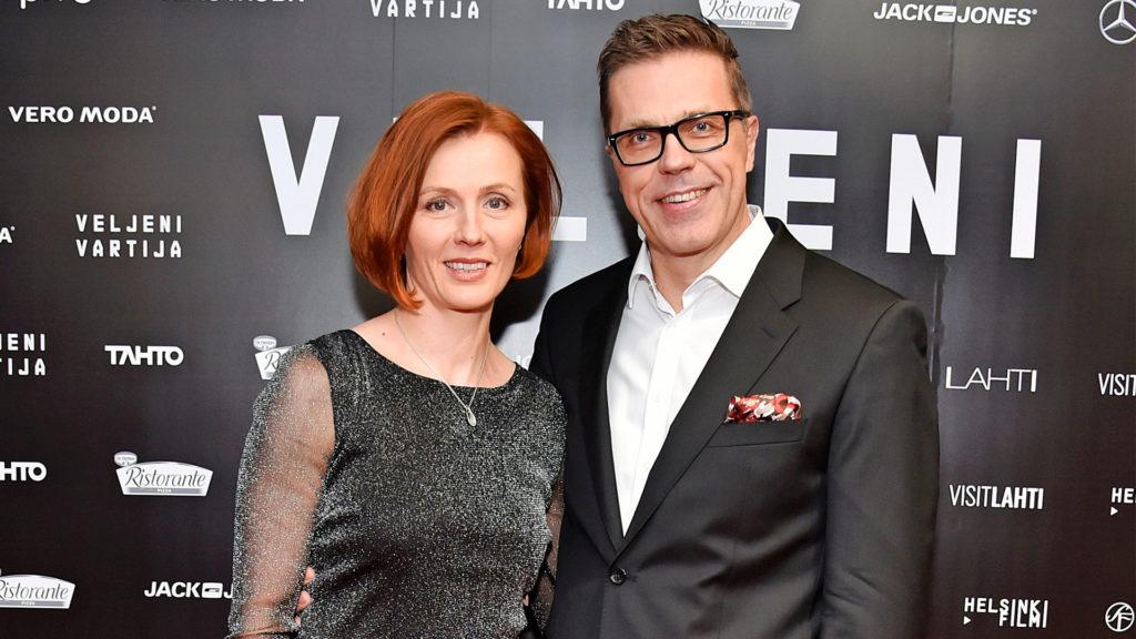 Virpi Sarasvuo ja Jari Sarasvuo Veljeni vartija -elokuvan kutsuvierastilaisuudessa vuonna 2018.