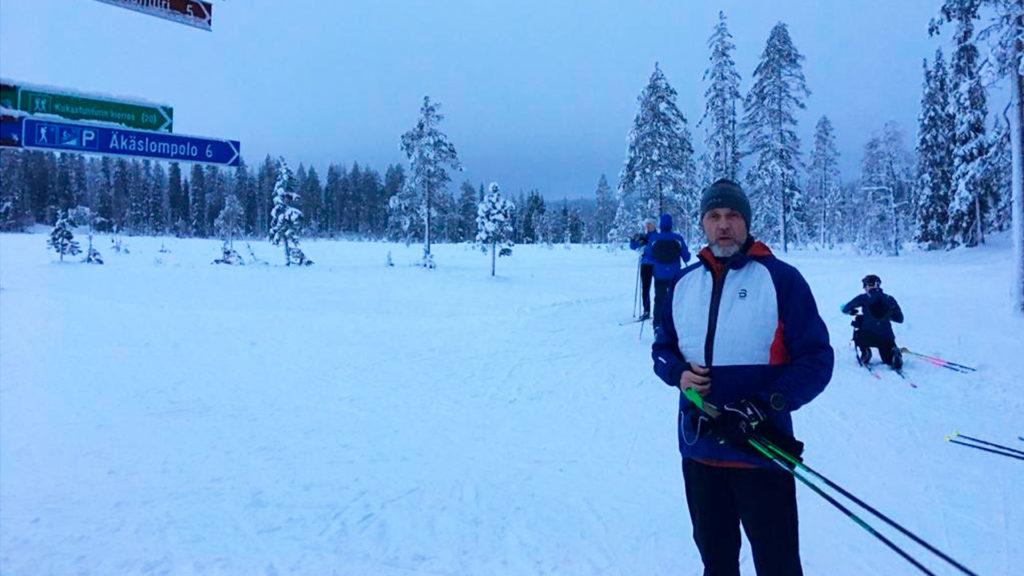 Seuran mies tavoitti Jari Sarasvuon haastatteluun Äkäslompolosta.