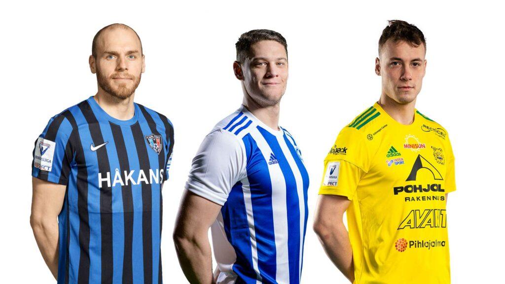 Interin Timo Furuholm, HJK:n Filip Valencic ja Ilveksen Eetu Vertainen vastaavat joukkueidensa maalinteosta. Kun verkko heiluu, joukkue kiipeää ylöspäin sarjataulukossa.
