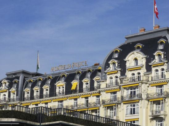 Mannerheim tapaili kreivitär d'Arcoa myös hotelli Montreux Palacessa. Kuva: Pekka Nieminen.