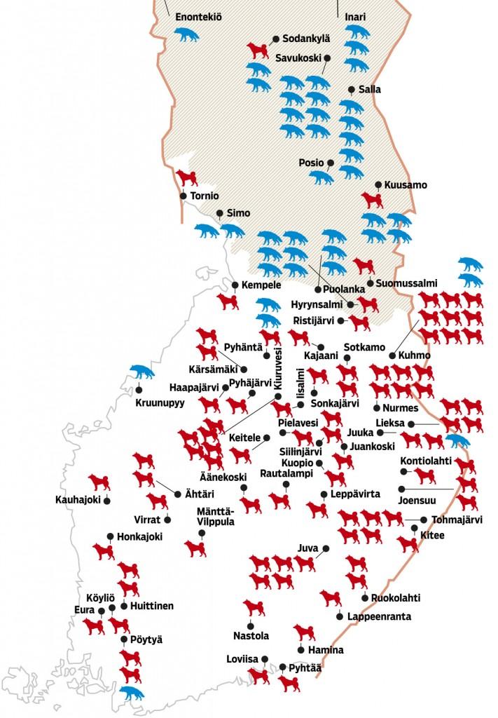 Susihyokkaykset Suomessa Katso Kartta Seura