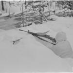 Pohjoissuomalaiset sotilaat olivat Raatteen pakkasessa kuin kotonaan. Kuva: SA-kuva.