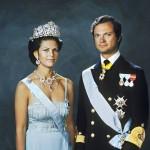 Kuningasparin virallinen hääkuva vuodelta 1976.