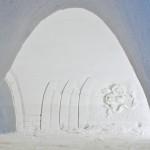 Yksityiskohta Ylläksen lumilinnasta.