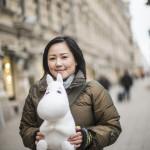 Suomessa asuvan japanilaisen Keiko Morishitan lempihahmo on Muumipeikko.