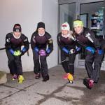 Riikka Sarasoja-Lilja, Krista Pärmäkoski, Anne Kyllönen ja Mona-Liisa Malvalehto jättivät imuroinnin välin ja kävivät lenkillä.