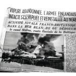 Excelsior-lehti julkaisi 4.2.1920 varsin vaikuttavan kuvan jatkuvien ilmapommitusten kohteeksi joutuneesta Viipurista.