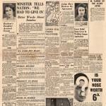 Ulkomaiset sanomalehdet uutisoivat talvisodan päättymisen etusivullaan.