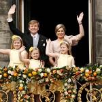 Hollannin Willem-Alexanderista tuli kuningas ja Máximasta kuningatar 30. huhtikuuta 2013, kun kuningatar Beatrix luopui kruunustaan.