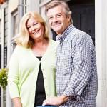 Merja ja aviomies Ari Kovero kuvattuna heinäkuussa 2012. Nykyään pariskunta pyörittää yhdessä kahvilaa.