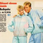 Elokuussa 1987 Seura-lehdessä oli ilmoitus, jossa mainostettiin vaaleansinisiä ulkoilupukuja. Sanaa tuulipuku ei ollut tuolloin vielä keksitty.