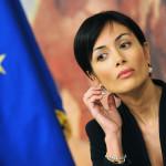 Italian tasa-arvomisteri Mara Carfagna vuonna 2010.