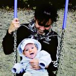 Eva Wahlström oli 28-vuotias, kun hänen poikansa poikansa Leon syntyi helmikuussa 2009.