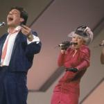 Kas Kaija Koohan se siinä vasemmalla vaaleanpunaisissaan. Taustakuorossa myös Anita Pajunen ja Jokke Seppälä. Solistina Kirka. Sijoitus yhdeksäs Luxemburgin euroviisuissa vuonna 1984.