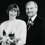 Lalli ja Riitta Partinen menivät naimisiin vuonna 1989.