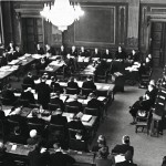 Säätytalon suuri sali oli oikeudenkäynnin näyttämönä.