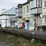 Majakin lähistöllä sijaitsevassa Brodkalmakissa asutaan ahtaasti.
