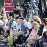 Arviolta 15 000 ihmistä kokoontui yhteen monikulttuurisuutta puolustavassa mielenosoituksessa Helsingin Kansalaistorilla 28. heinäkuuta 2015.