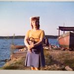 Riitta Kärmeniemi 24-vuotiaana pian sen jälkeen kun hän oli joutunut luopumaan vauvastaan.