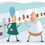 Miehen juominen kiristää puolisoiden välejä.