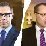 Särö hallituksessa – valtiovarainministeri Stubb halusi oman miehensä puolustusministeri Niinistön esikuntaan.